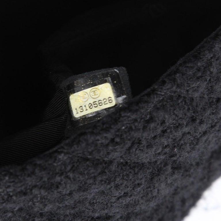 2008-2009s Chanel Black Tweed Vintage Bag For Sale 1
