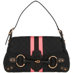2000s Gucci black monogram bag