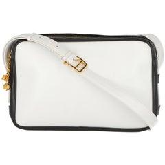 1970s Céline Vintage Black and white Leather Bag