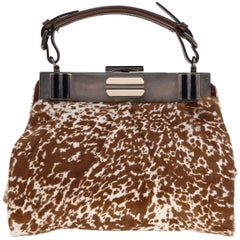 2000s Marni Calf-Hair Printed Bag
