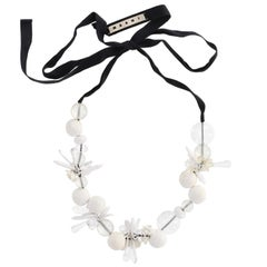 Marni white Flowers Necklace