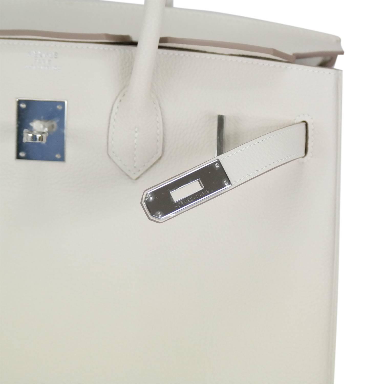 where can i sell replica handbags - Hermes Handbag Birkin 35 Togo Craie Palladium Hardware. at 1stdibs