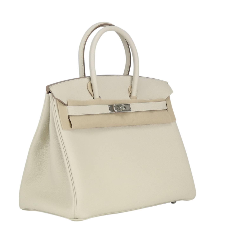 hermes garden party sizes - Hermes Handbag Birkin 35 Togo Craie Palladium Hardware. at 1stdibs