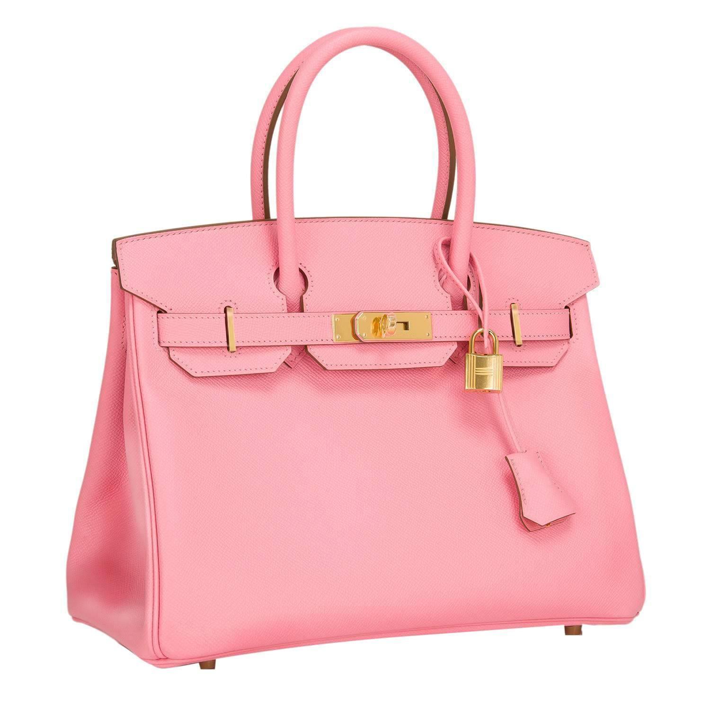 cheap hermes bag - Hermes birkin 30 1Q Rose Confetti Epsom Leather Gold Hardware 2016 ...