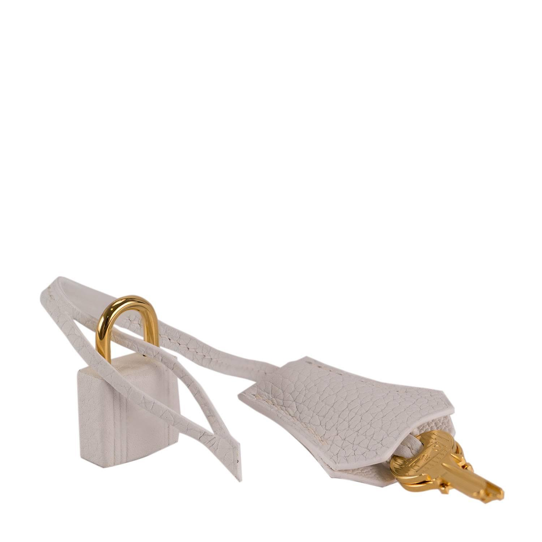 birkin bag sale - Hermes Birkin 30 T. Clemence Leather 01 White Color Gold Hardware ...