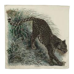 Hermes Chale  Panthera Pardus Blanc/Anthracite/Vert 2016.