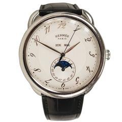 Hermès Arceau Watch Grande Lune Black 2012