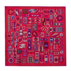 "Hermes Scarf ""Carre"" ""Carre en Boucles"" 36"" x 36"" (90cmx90cm) 100% silk 2016"