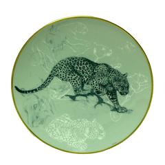"Hermes ""Carnets d'Equateur"" Dessert plate, Panther theme, 8.3"""