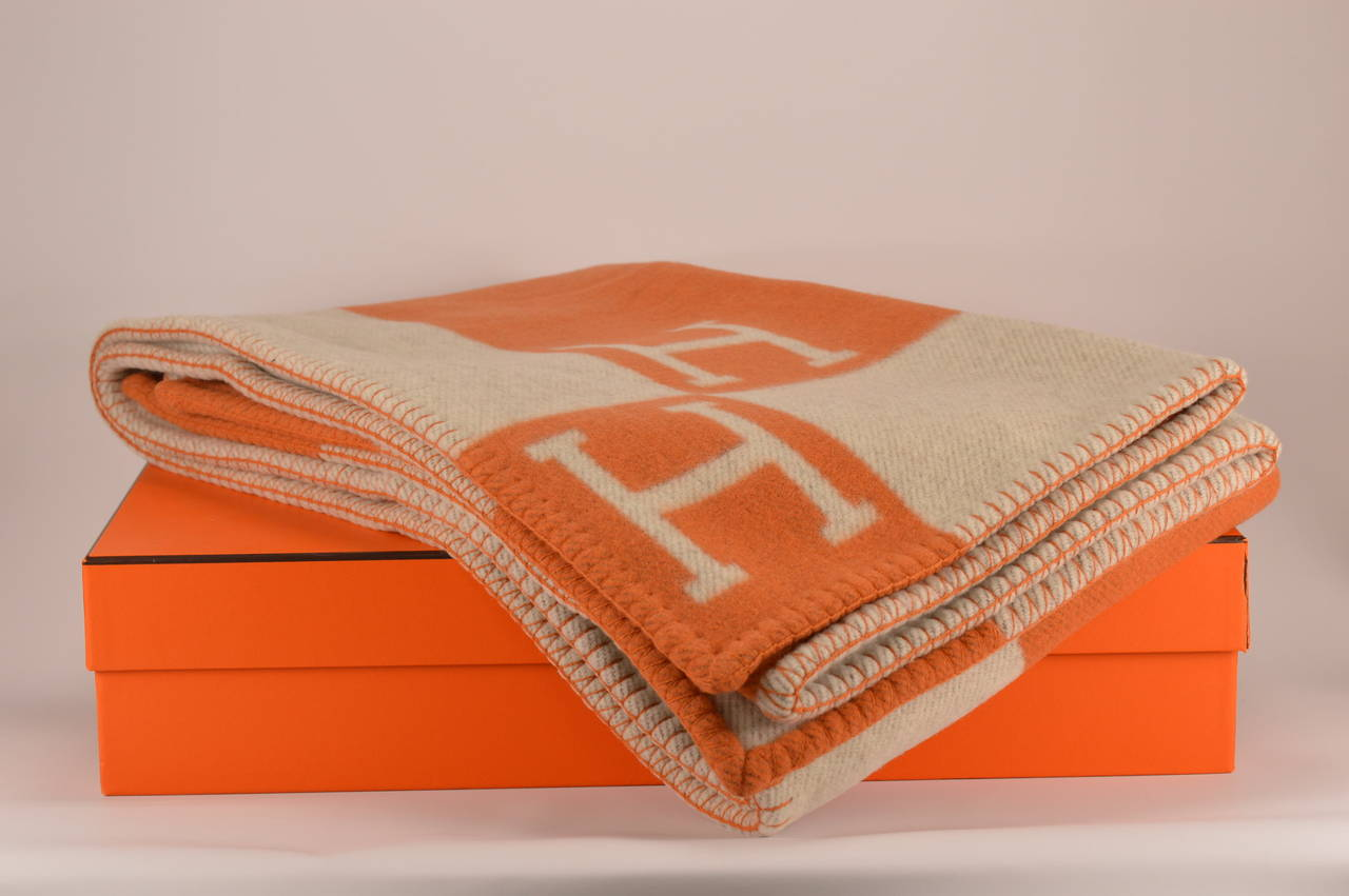Hermes Avalon Blanket Couch Ecru Potiron At 1stdibs