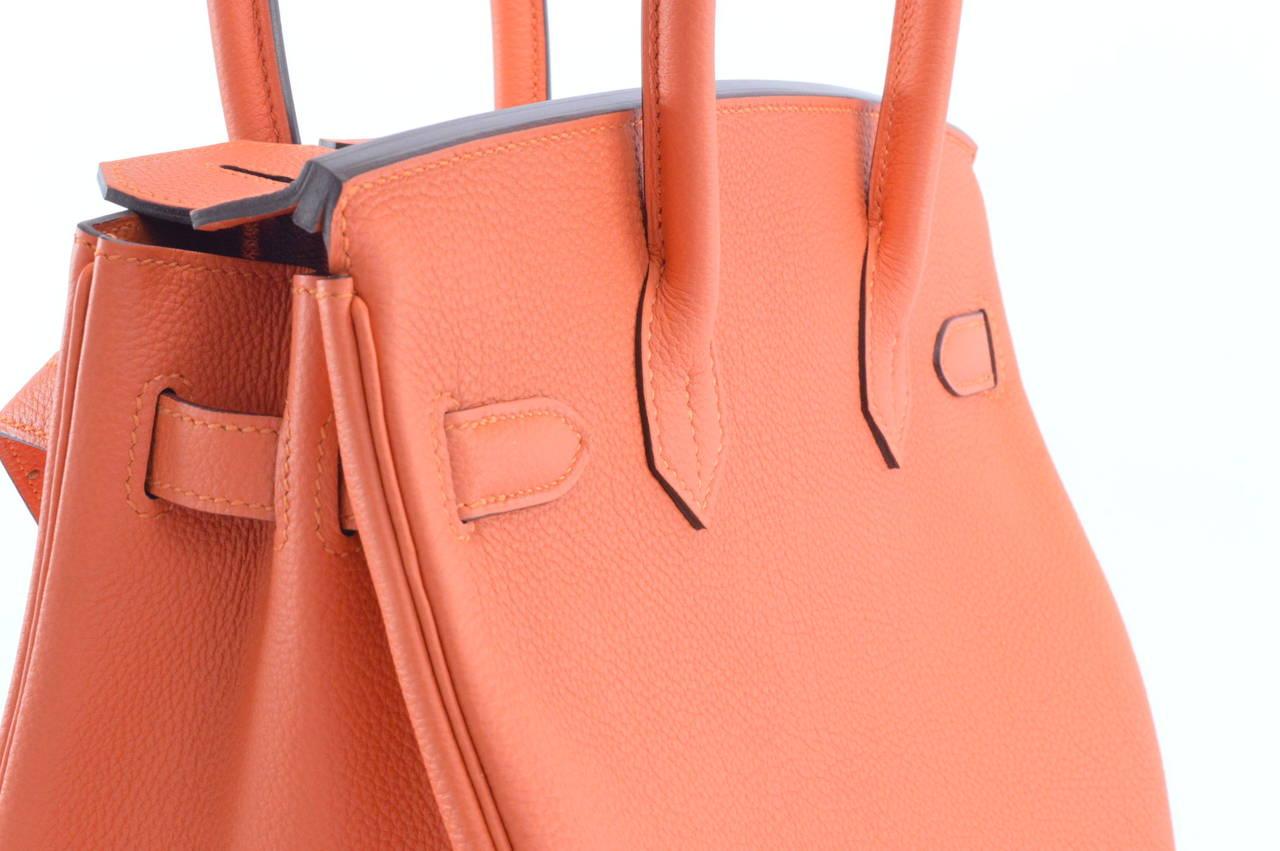 HERMES Handbag BIRKIN 30 TOGO, FEU Color GOLD HARDWARE at 1stdibs
