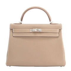 hermes kelly ii retourne 32 taurillion clemence brown gold hardware 2015