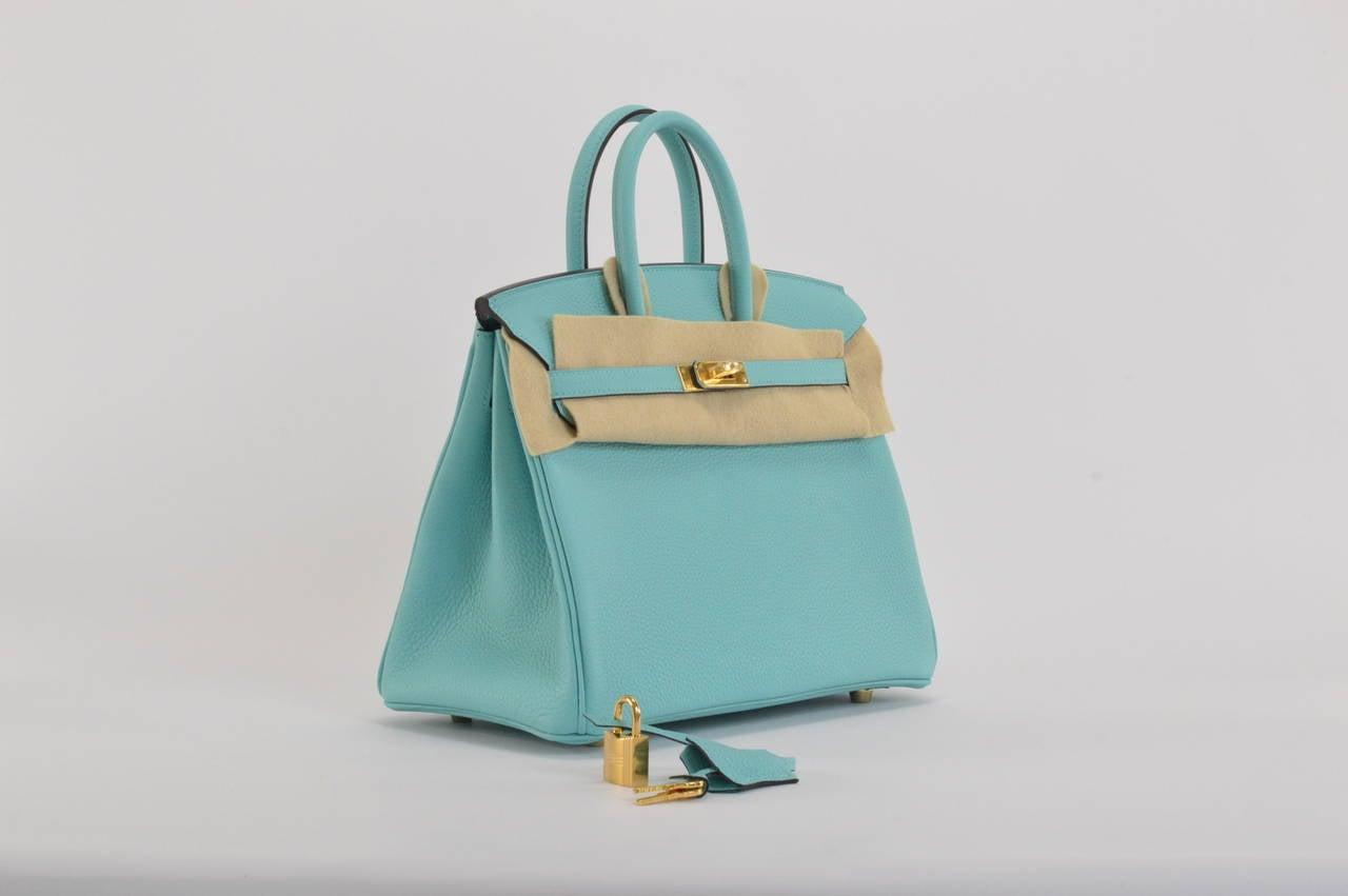 herme handbags - hermes birkin 25 togo blue atoll palladium hardware, birkin ...