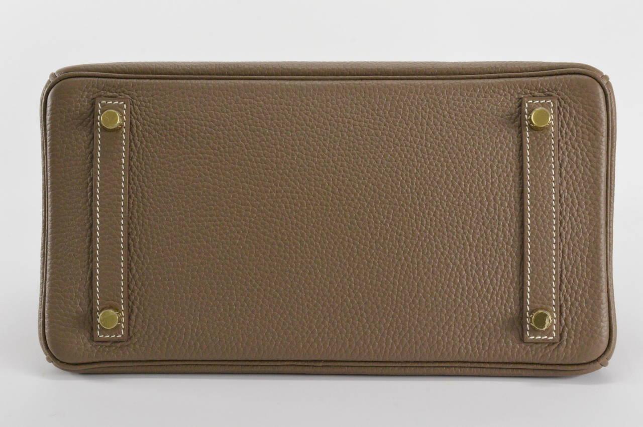 hermes birkin bag 30cm etoupe clemence gold hardware