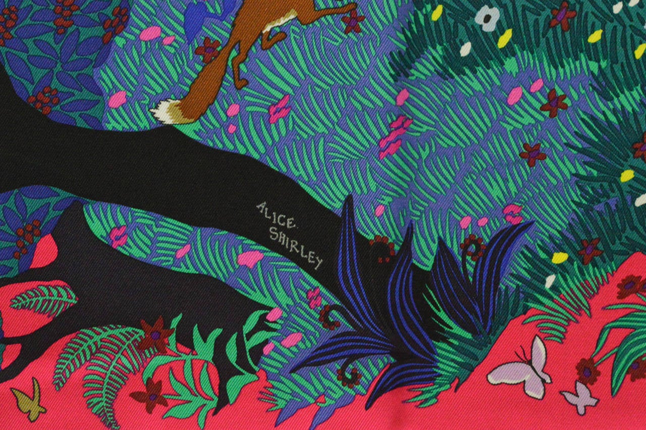 Hermes carre 90 twill dans un jardin anglais rose vift for Dans un jardin anglais twilly