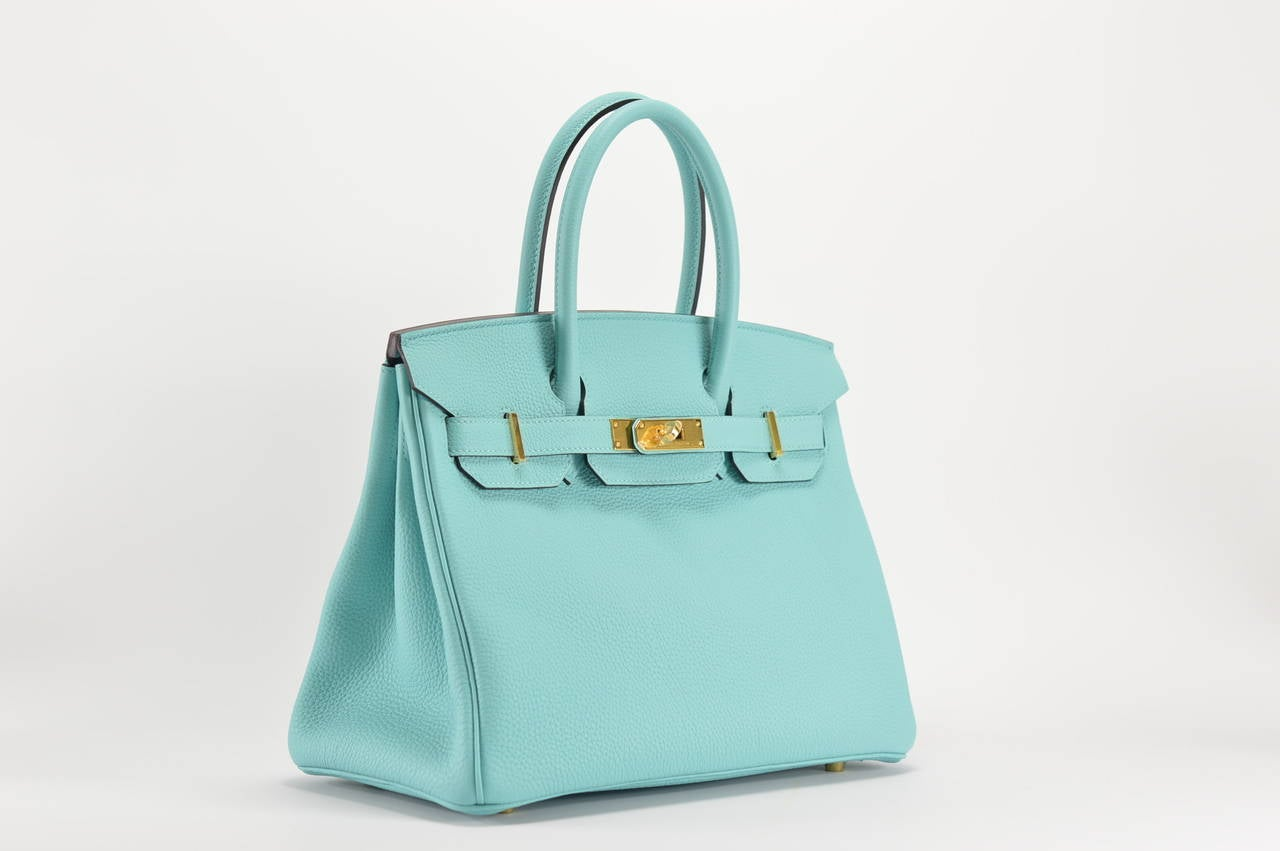 hermes wallets prices - HERMES Handbag BIRKIN 30 TOGO Blue ATOLL GOLD HARDWARE at 1stdibs