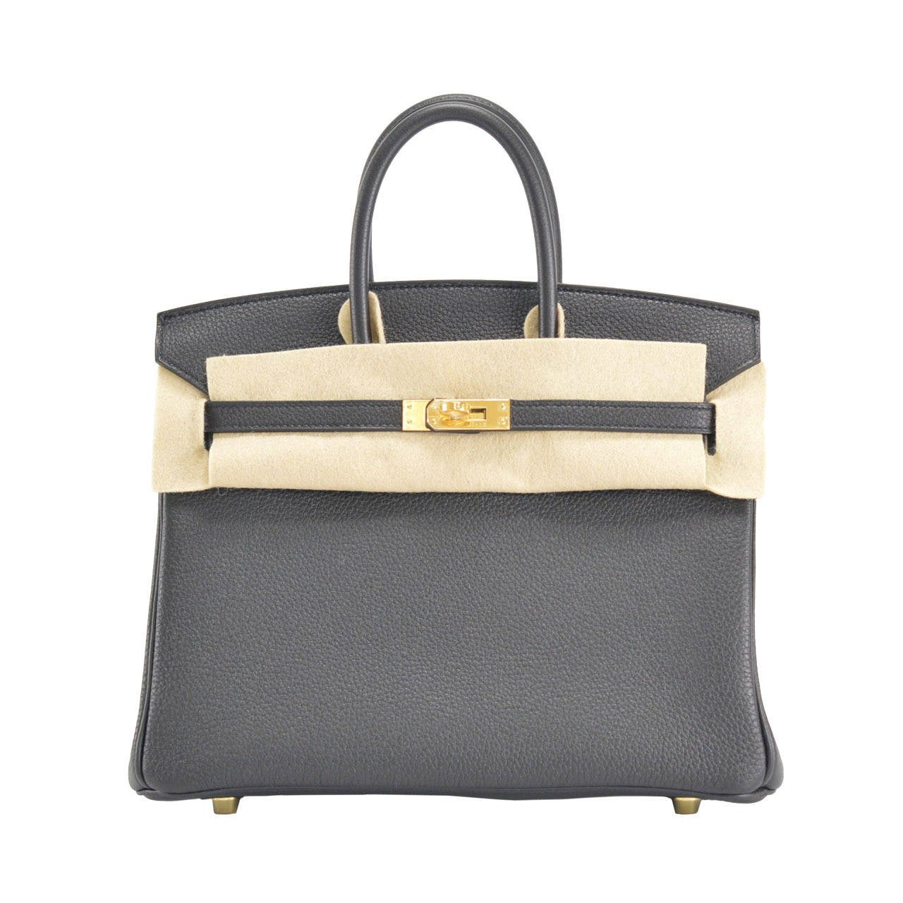 brighton knockoffs - HERMES Handbag BIRKIN 25 TOGO BLACK GOLD Hardware at 1stdibs