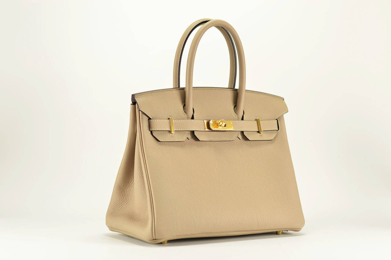 cheap party handbags - HERMES BIRKIN Bag 30 TOGO GRIS TOURTERELLE Gold Hardware at 1stdibs