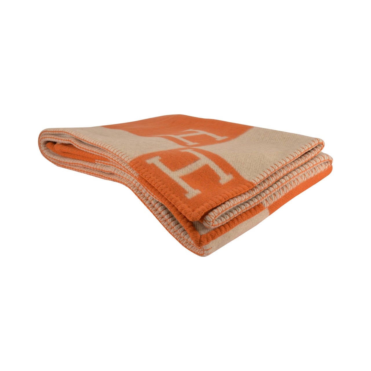 Hermes Avalon Blanket Couch Beige Orange 2015 At 1stdibs