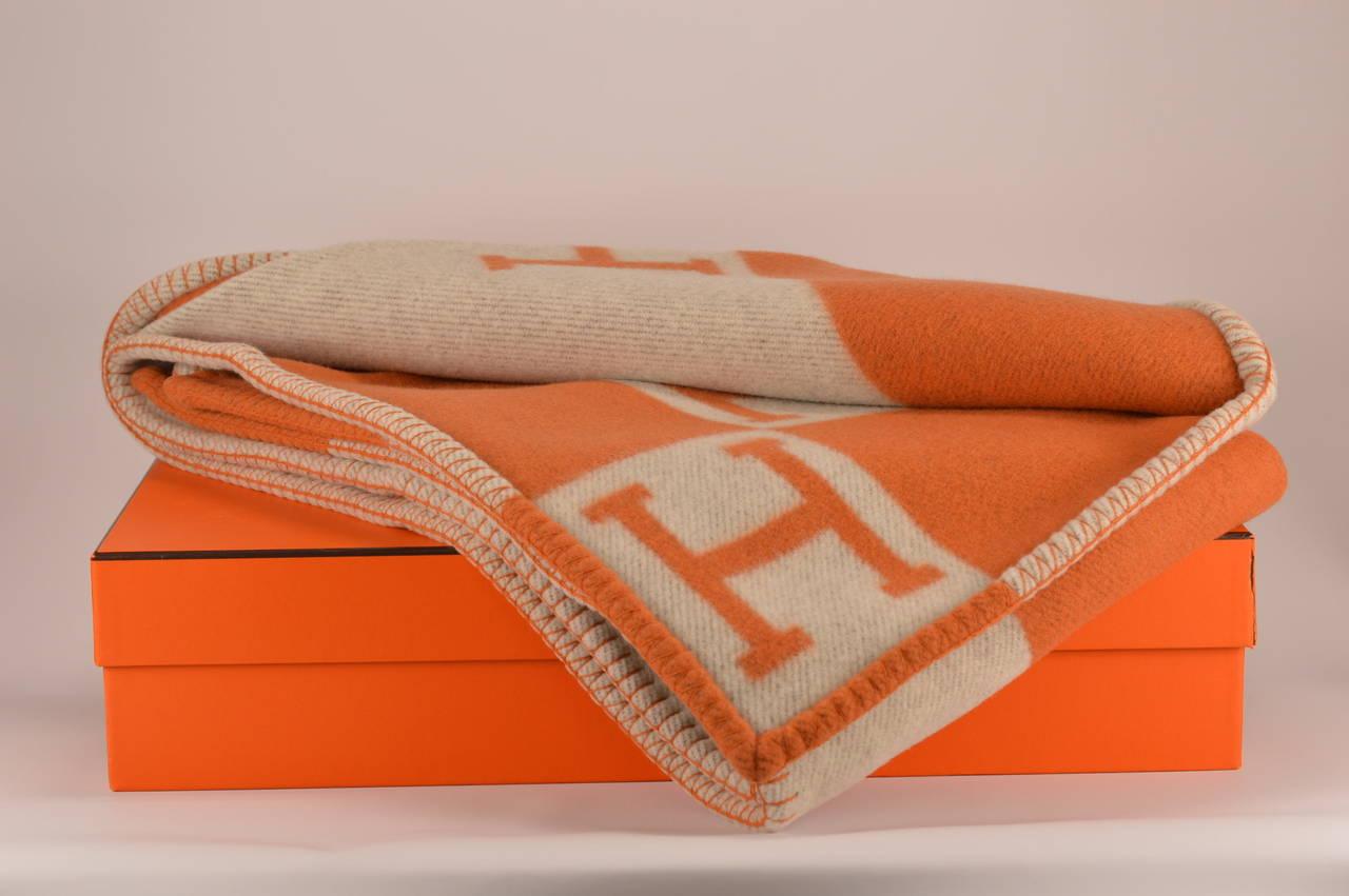 Hermes Avalon Blanket Couch Beige Orange 2015 At 1stdibs
