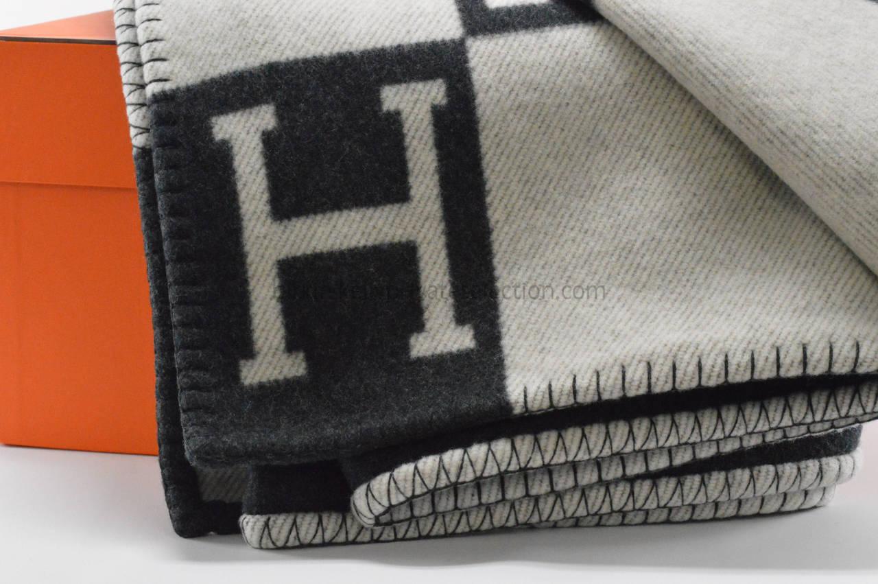 hermes leather blanket