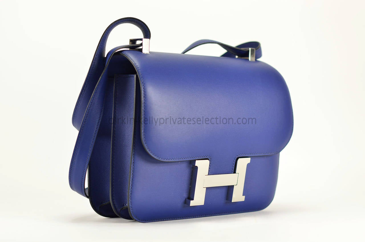 hermies bag - hermes constance mini bag 18cm blue sapphire swift palladium ...