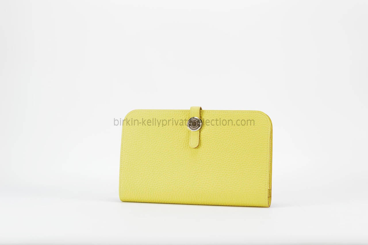 hermes kelly wallet yellow - photo #14
