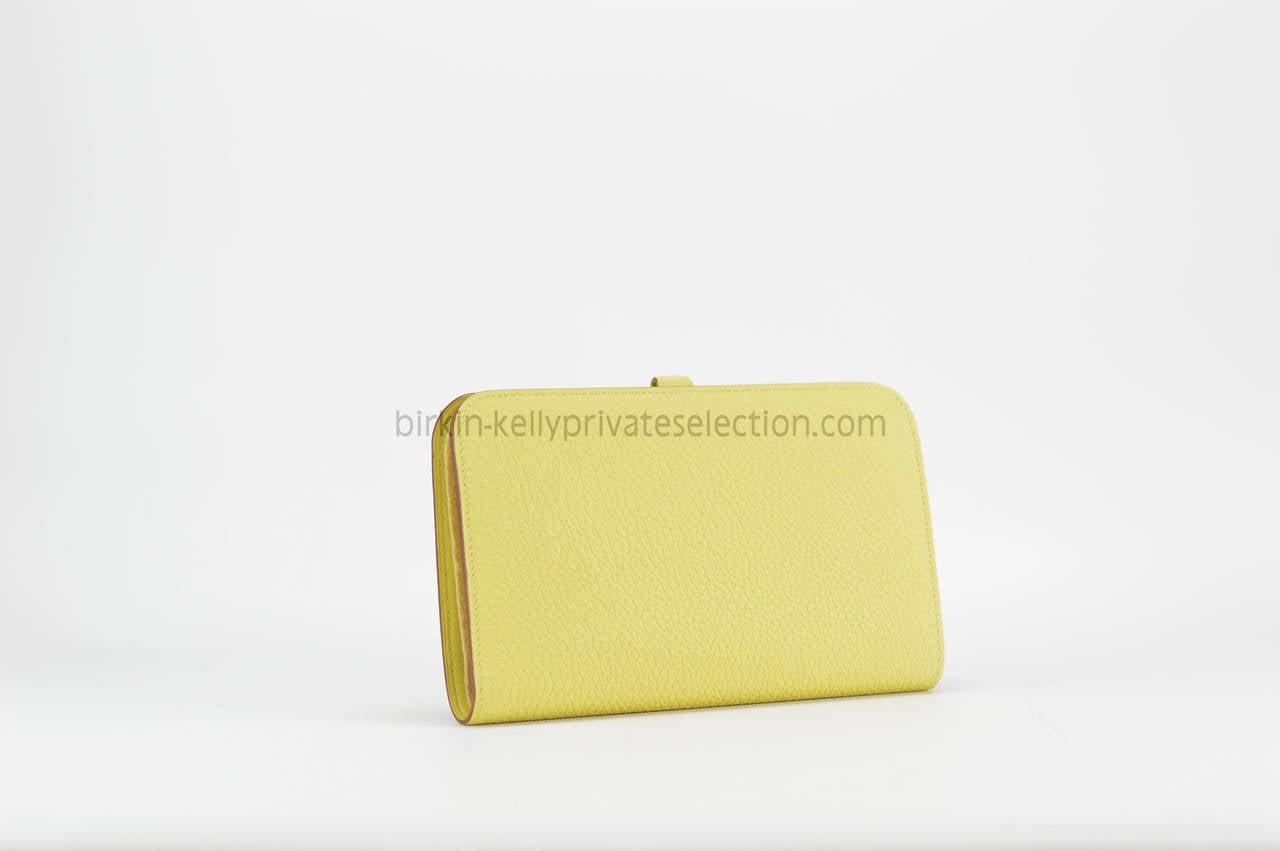 hermes kelly wallet yellow - photo #15