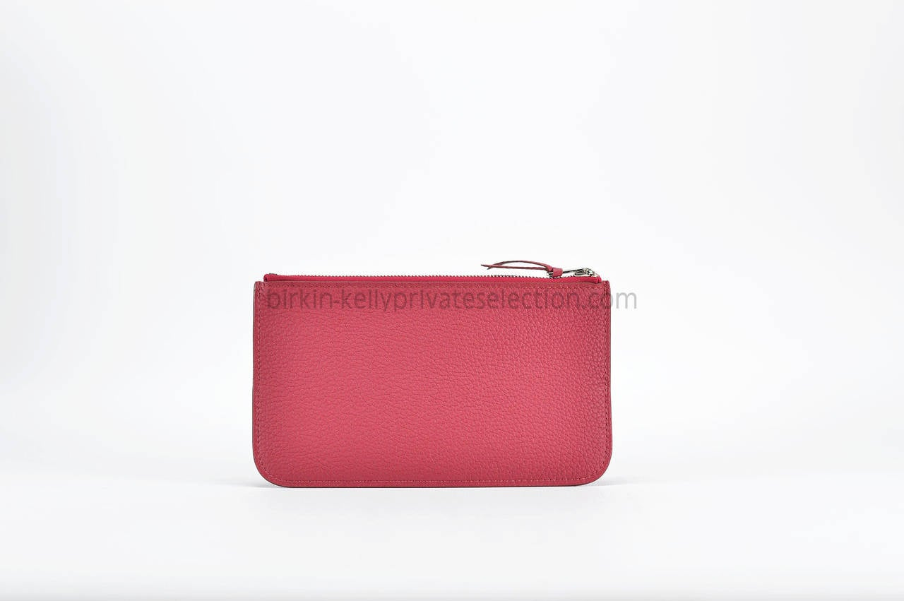 hermes printed canvas bag - Hermes Wallet Dogon Duo Leather Togo Ruby Palladium Hardware 2015 ...