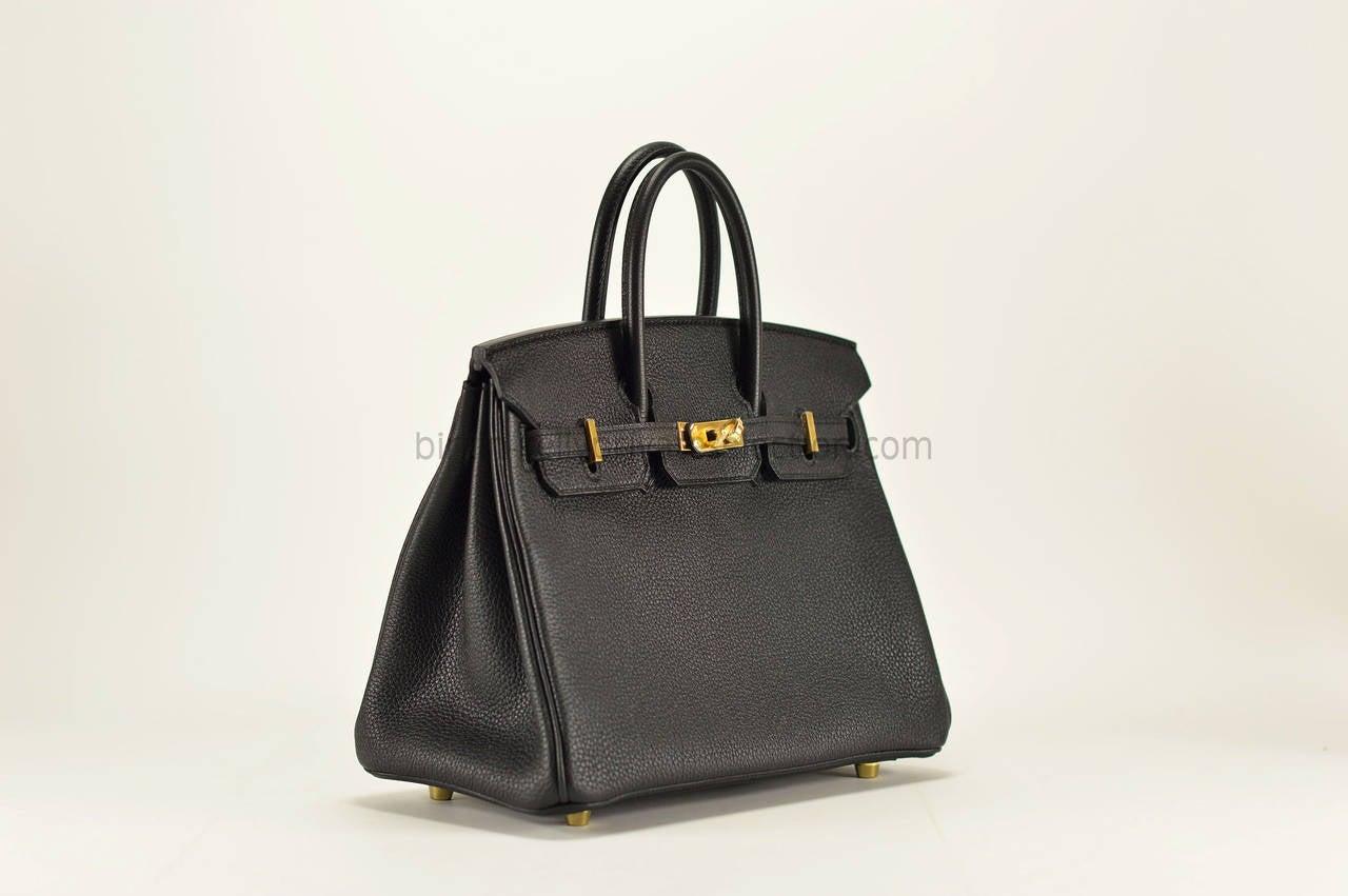 where to buy hermes birkin - HERMES Handbag BIRKIN 25 Togo BLACK Gold Hardware 2015. at 1stdibs
