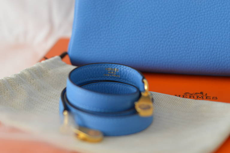 Hermes Handbag Kelly Retourne 28 Blue Paradise - New color. Gold ...