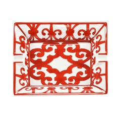HERMES Ashtray RECT ASHTRY BALCON DU GUAD Red 2015.