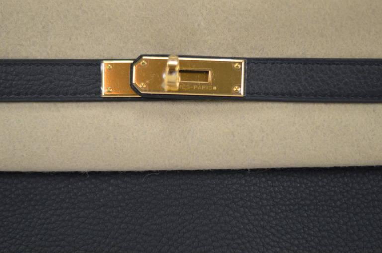 Herm��s Handbag Kelly II Black Retourne 32cm Taurillon Clemence ...