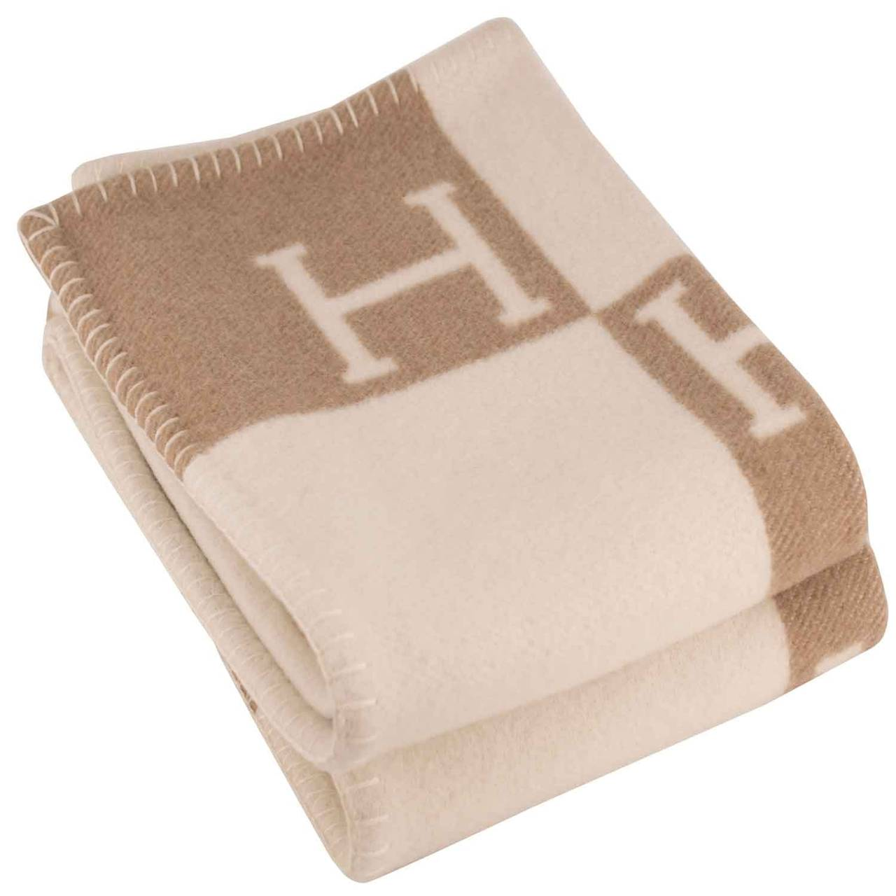 Hermes Childrens Avalon Blanket 100x140cm Ecru Camel 2015