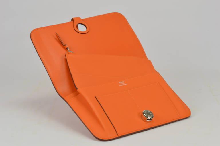 hermes kelly birkin bag - Herm��s Dogon Duo Orange Swift Palladium Hardware at 1stdibs