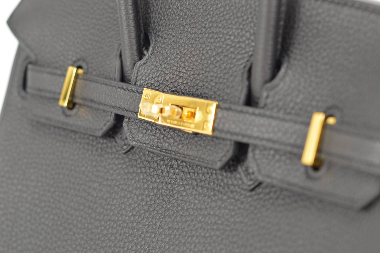 faux hermes handbags - 2014 HERMES Birkin Bag 25cm Black Veau Togo Gold Hardware at 1stdibs