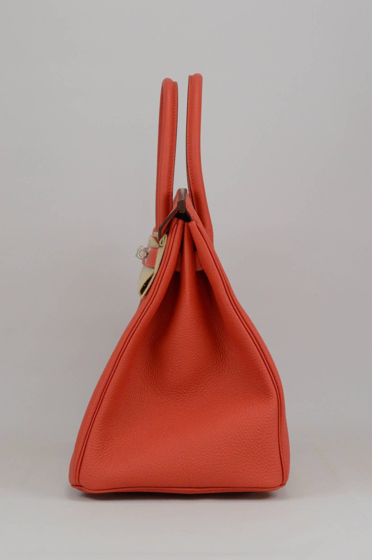 hermes lindy bag sizes - 2014 Hermes Birkin Bag 35 Rouge Pivoine Togo Leather Palladium ...