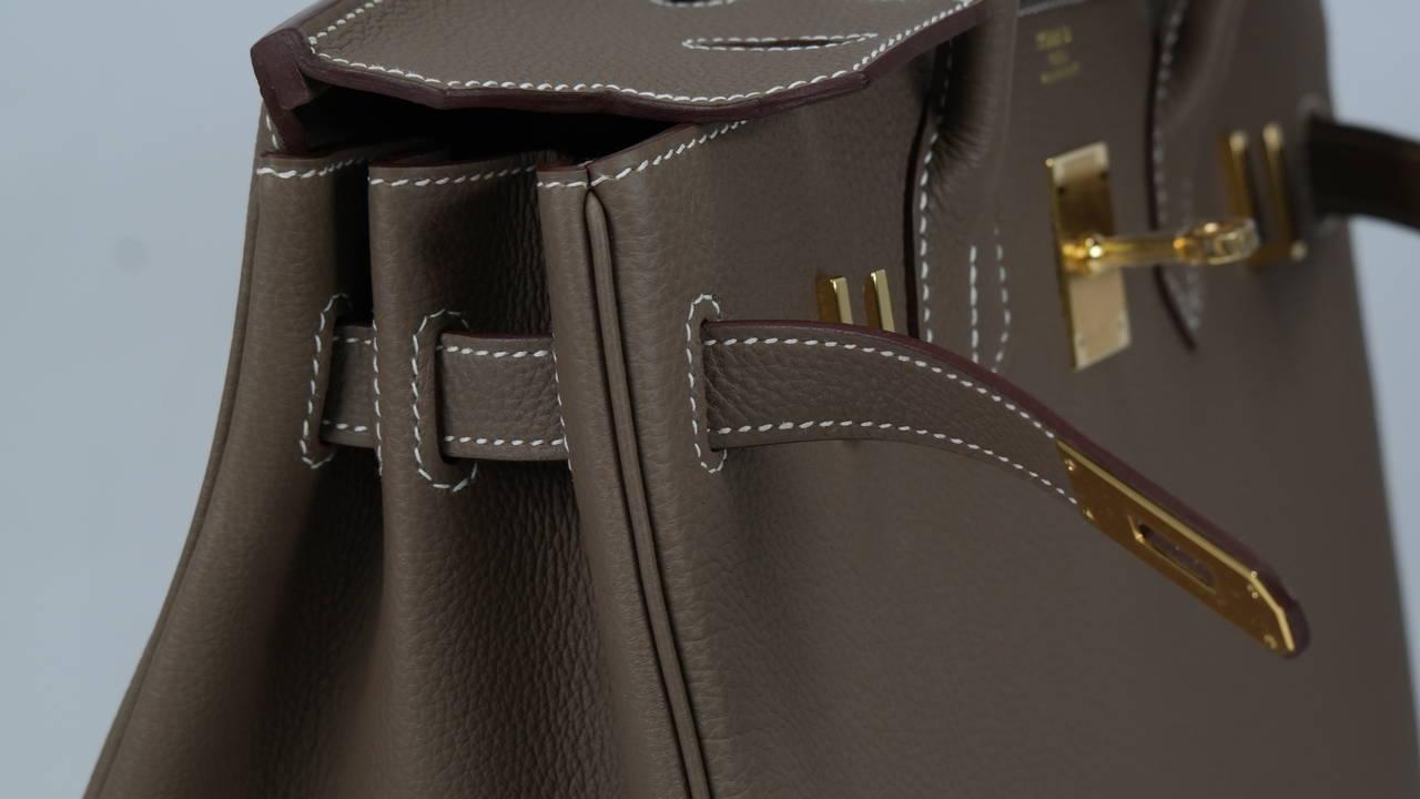 kelly green leather purse - 2014 Hermes Birkin bag 30cm Etoupe Togo Gold Hardware at 1stdibs
