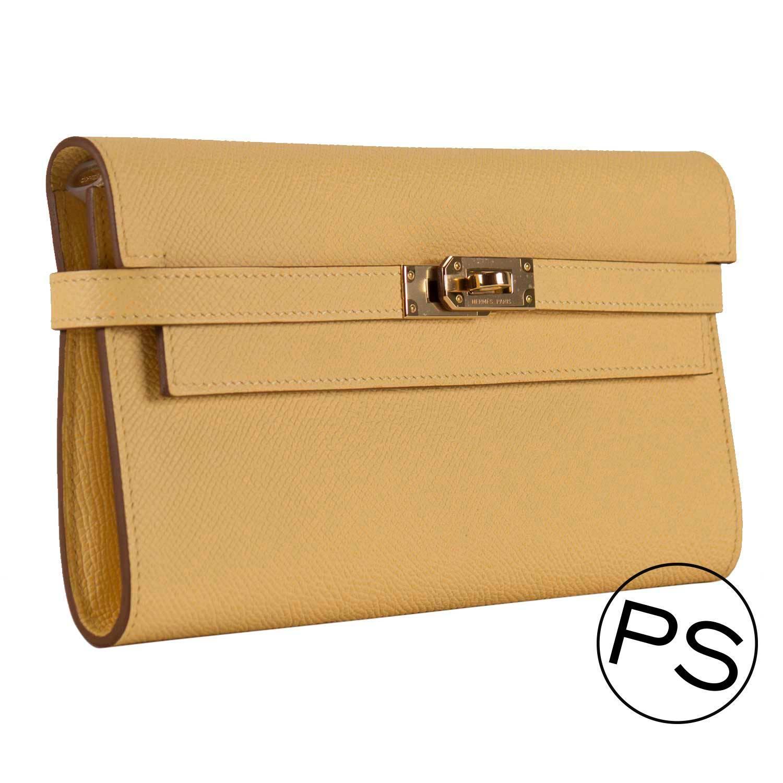 hermes kelly wallet yellow -#main