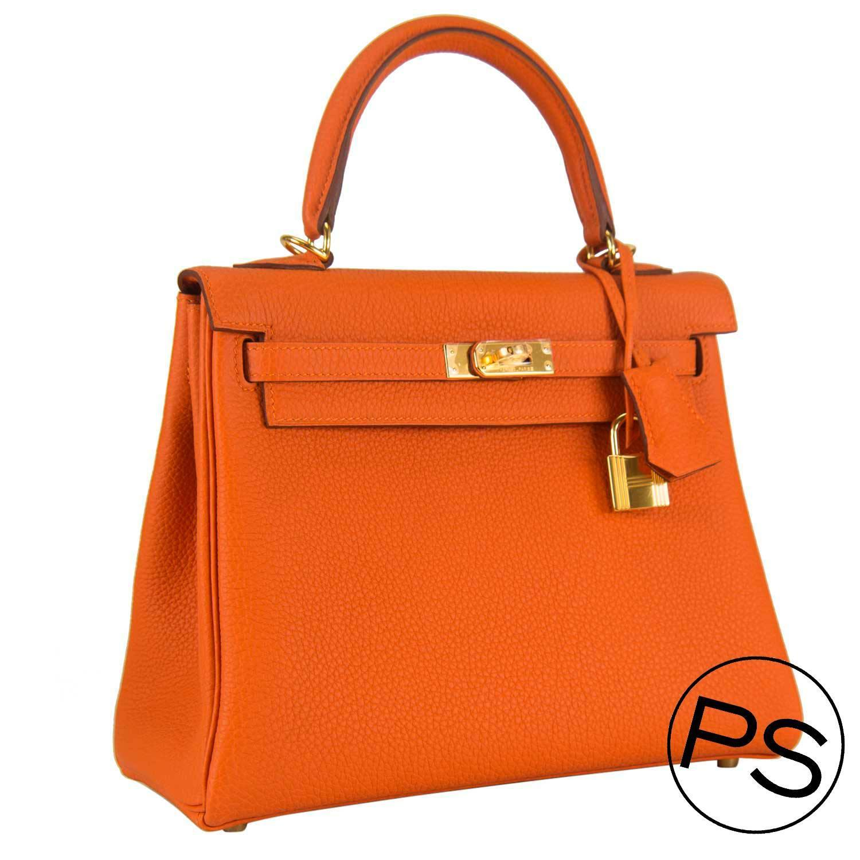 hermes dogon wallet replica - Hermes Handbag Kelly II 32 Retourne Togo Orange Gold Hardware 2015 ...
