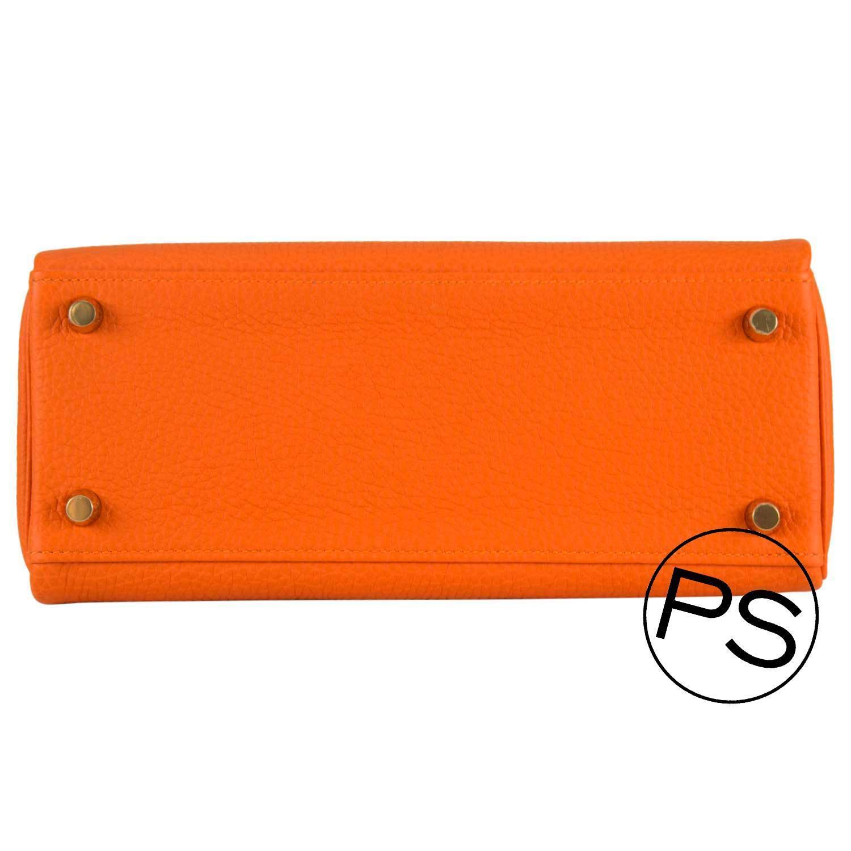 Hermes Handbag Kelly II 32 Retourne Togo Orange Gold Hardware 2015 ...