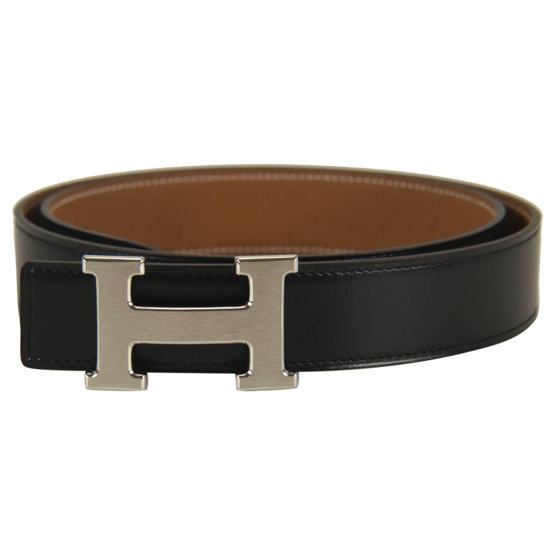 Hermes Belt Black Brown Reversible Constance H 90cm