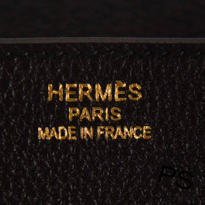 hermes handbag birkin 35 togo black gold hardware 2016