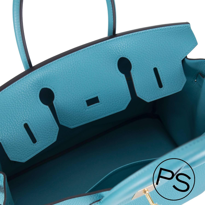 birkin price - Hermes Handbag Birkin 30 Taurillion Blue Gold Hardware 2015. For ...