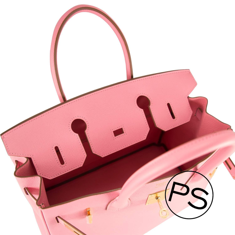Hermes Handbag Birkin 30 Epsom Pink Confetti Gold Hardware 2015 ...