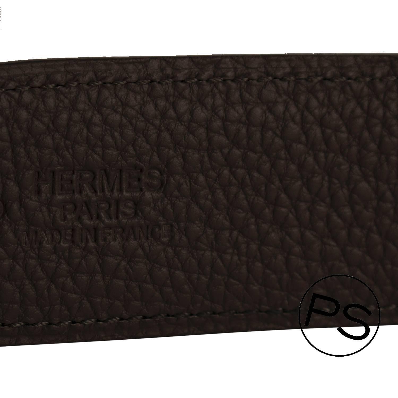 hermes leather goods - hermes h constance 2 belt 42 mm reversible leather in black tan ...