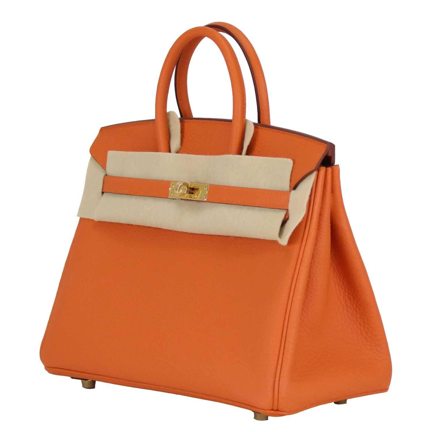 h hermes purses - Hermes Birkin 25 Togo 93 Orange Gold Hardware 2016 at 1stdibs