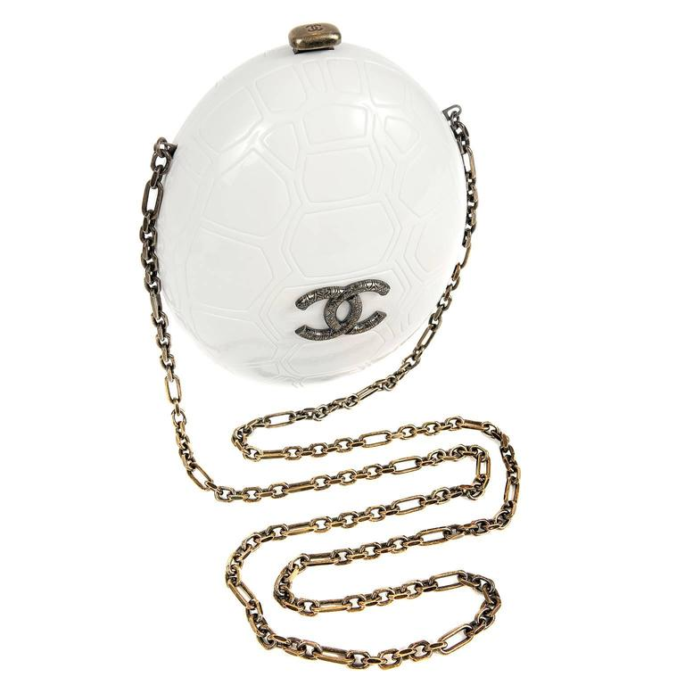 Chanel Ivory Resin Turtle Shell Print Bag with Strap- 2016 CRUISE For Sale
