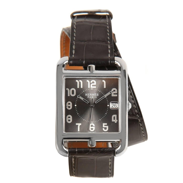 Hermès Cape Cod Watch  with Double Tour Band For Sale