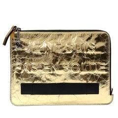 Chanel Gold Je Ne Suis Pas En Solde Clutch